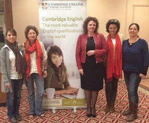 Profesoras de Marbella Study Centre en un seminario de inglés presentado por Cambridge English
