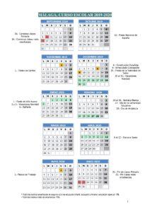 Calendario Escolar de la Provincia de Málaga
